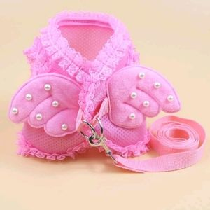 Pink Pearl Angel Vest Harness and Matching Leash